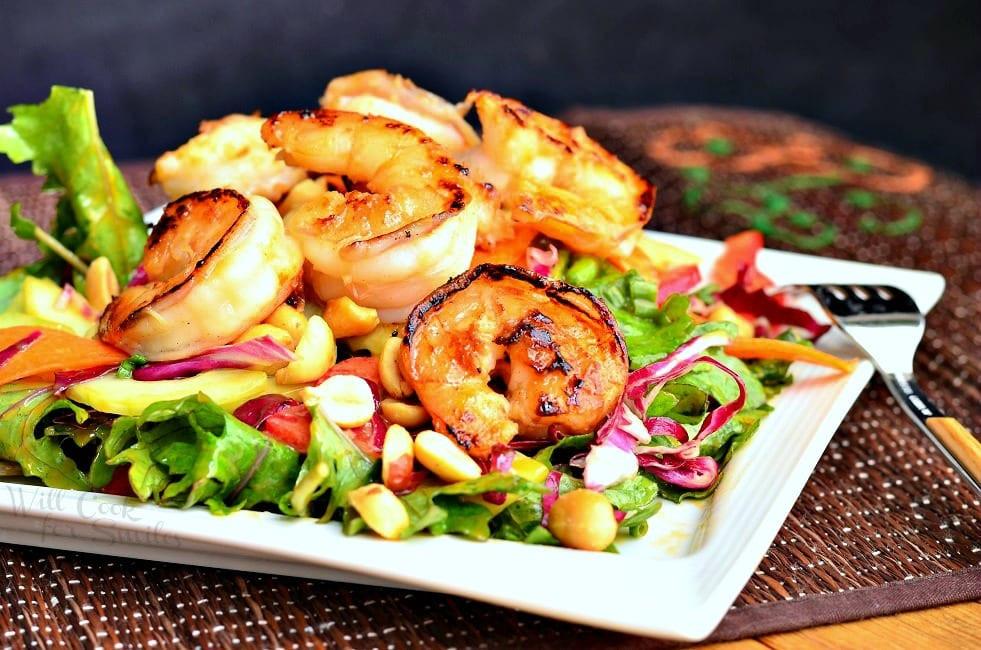 Thai Shrimp Salad  Thai Shrimp Salad with Peanut Dressing Will Cook For Smiles