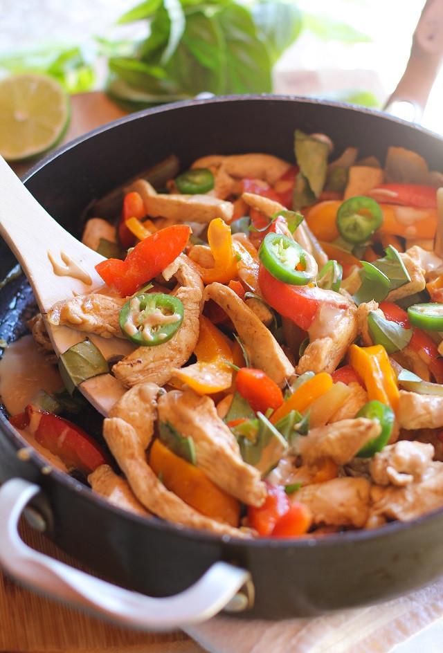 Thai Stir Fry Sauces  Thai Basil Chicken Stir Fry with Ginger Peanut Sauce The