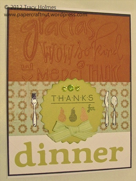 Thanks For Dinner  thank you card