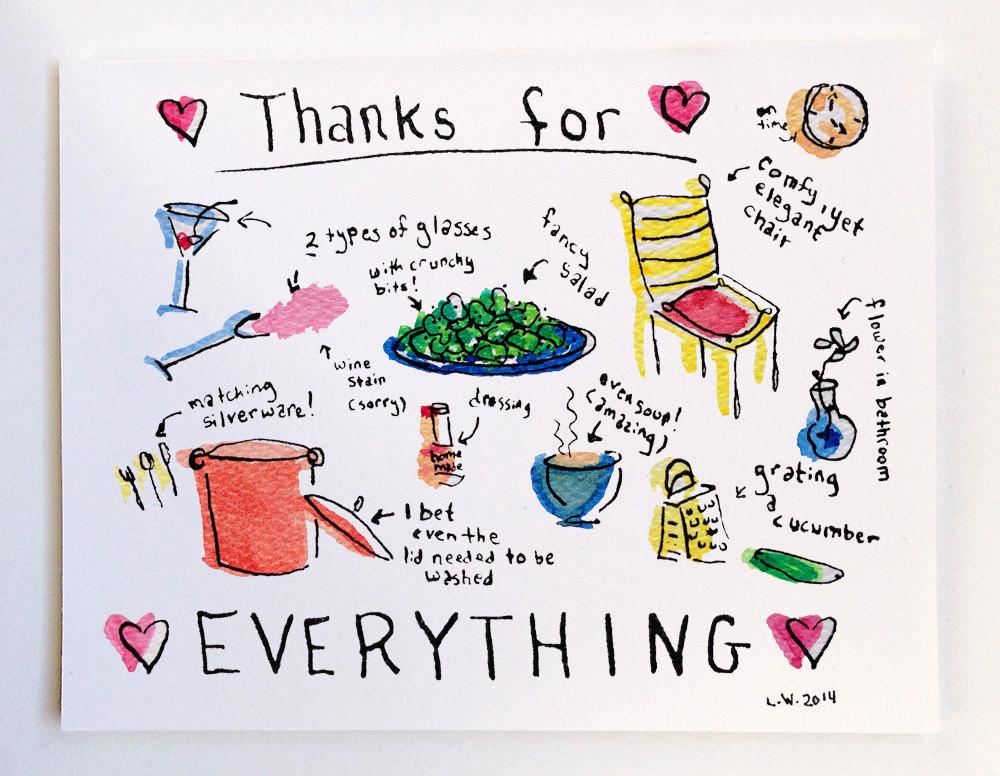 Thanks For Dinner  Thank you for dinner greeting card