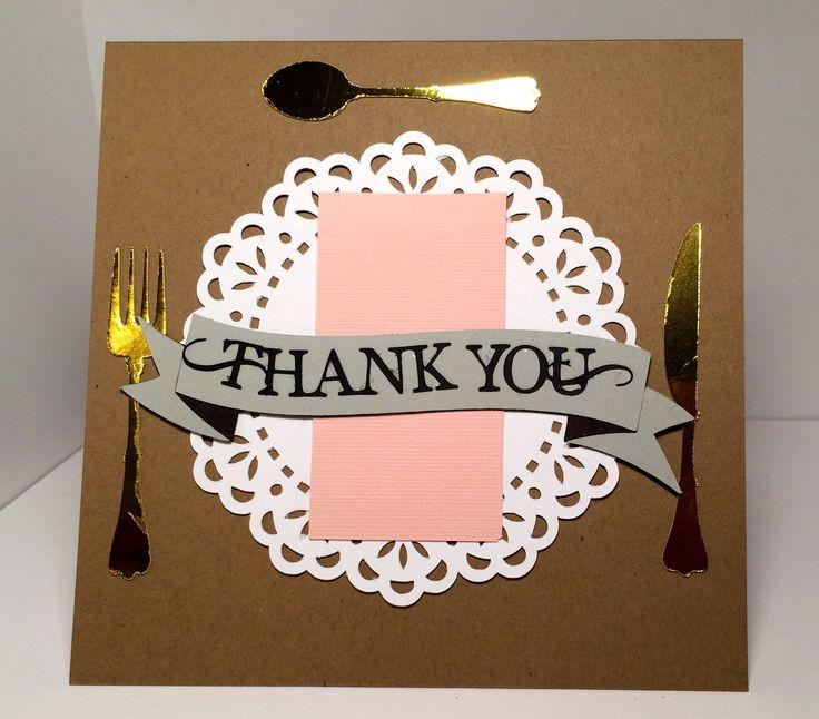 Thanks For Dinner  Thank You for Dinner Card everydaypaper