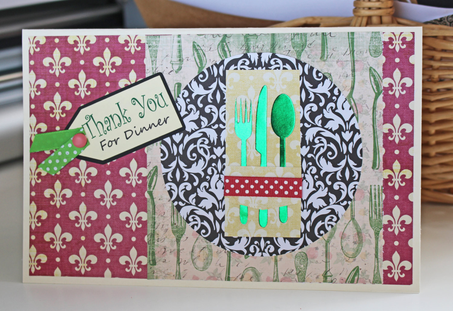 Thanks For Dinner  Thank You for Dinner Card Hostess Card Place Setting