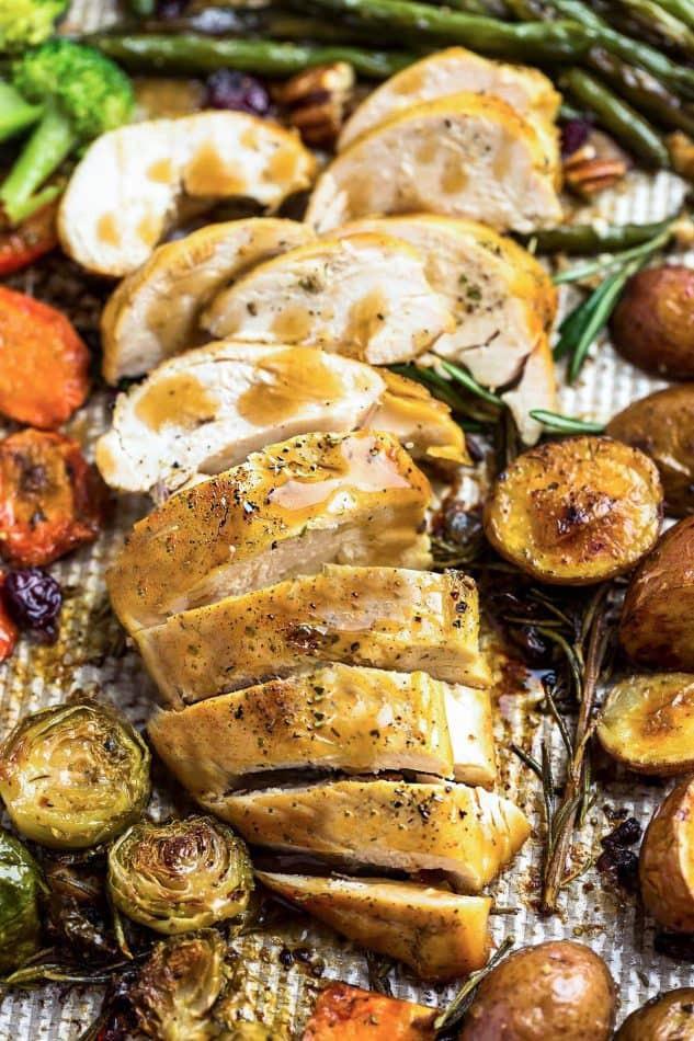 Thanksgiving Dinner For One  Sheet Pan Turkey Dinner Healthy & Easy All in e Meal