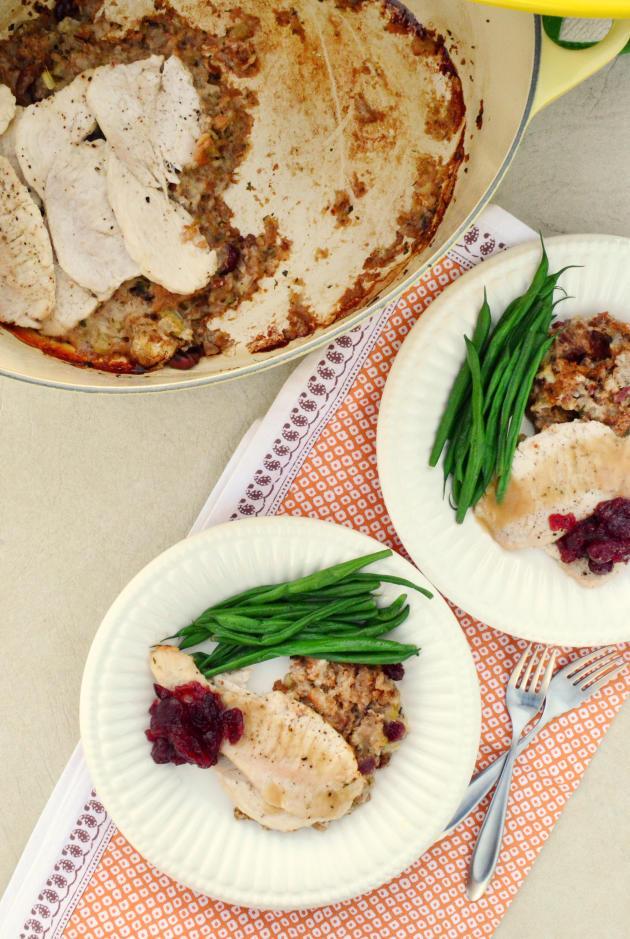Thanksgiving Dinner For One  Turkey Tenderloin Dinner e Pot Thanksgiving for Two