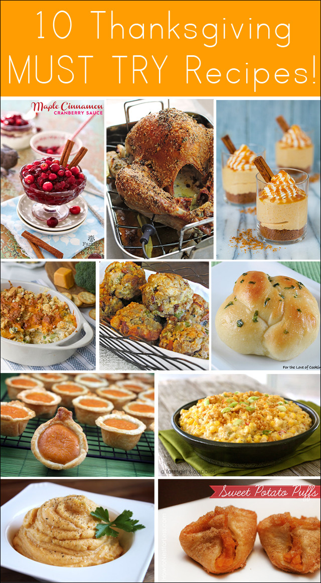 Thanksgiving Dinner Ideas Pinterest  10 Amazing Thanksgiving Recipes Thanksgiving Dinner Ideas