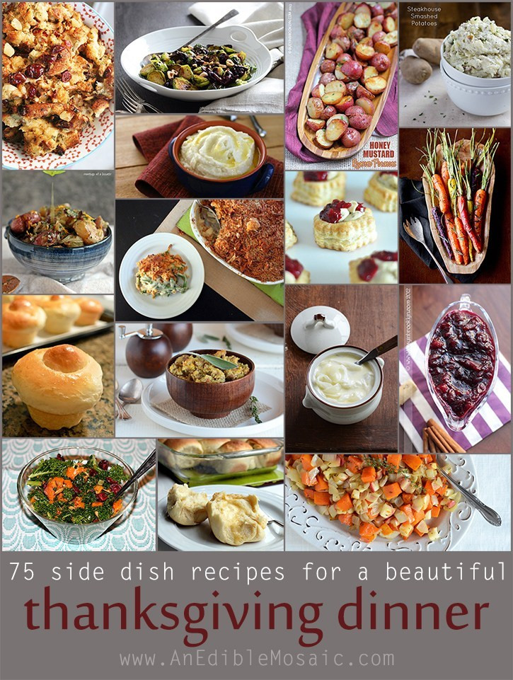 Thanksgiving Dinner Ideas Pinterest  75 Side Dish Recipes For a Beautiful Thanksgiving Dinner