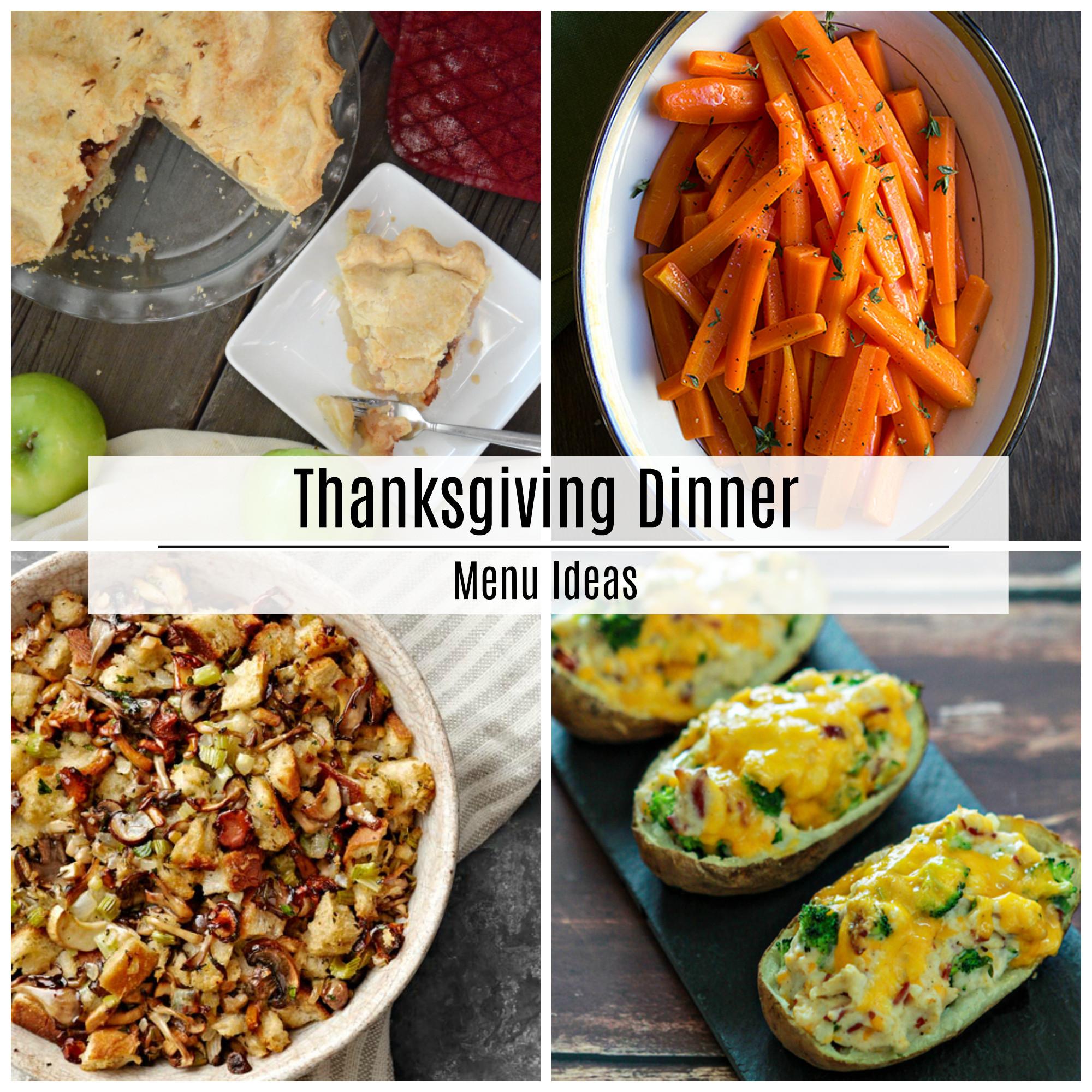Thanksgiving Dinner Menu Ideas  Thanksgiving Dinner Menu Recipe Ideas The Idea Room