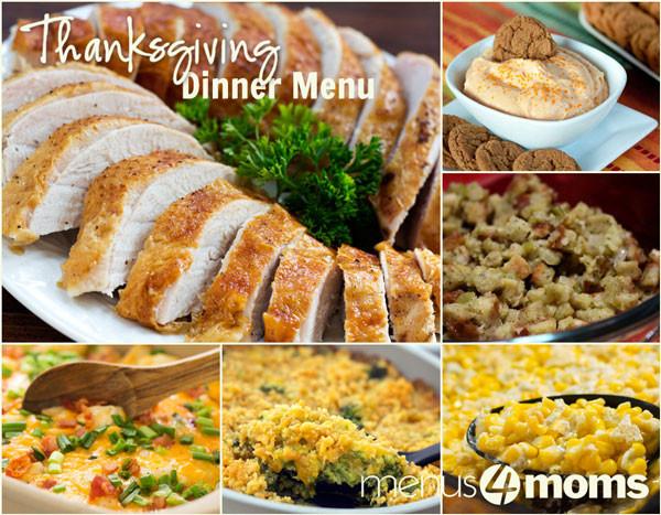Thanksgiving Dinner Menu Ideas  Traditional Thanksgiving Dinner Menu Plan Busy Mom Menu