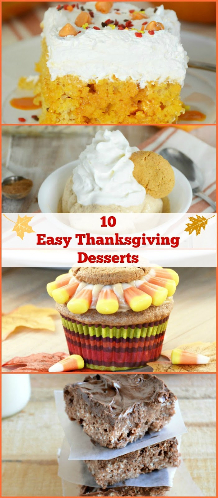 Thanksgiving Recipes Desserts  10 Easy Thanksgiving Dessert Ideas Meatloaf and Melodrama