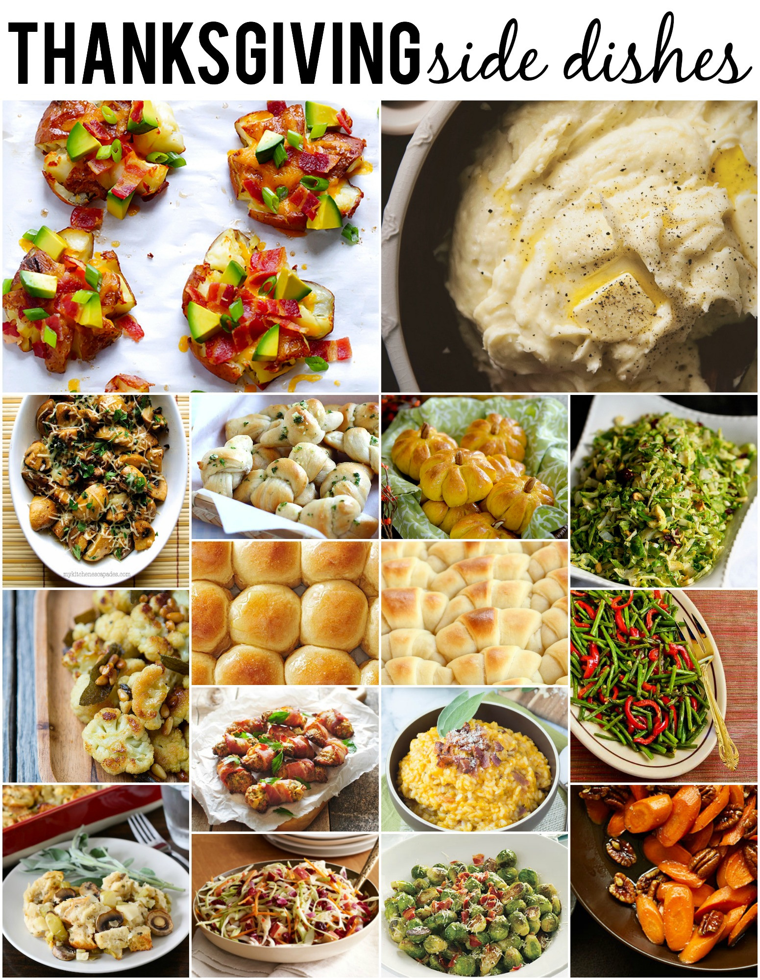 Thanksgiving Side Dishes  Dishes To Make For Thanksgiving Dinner