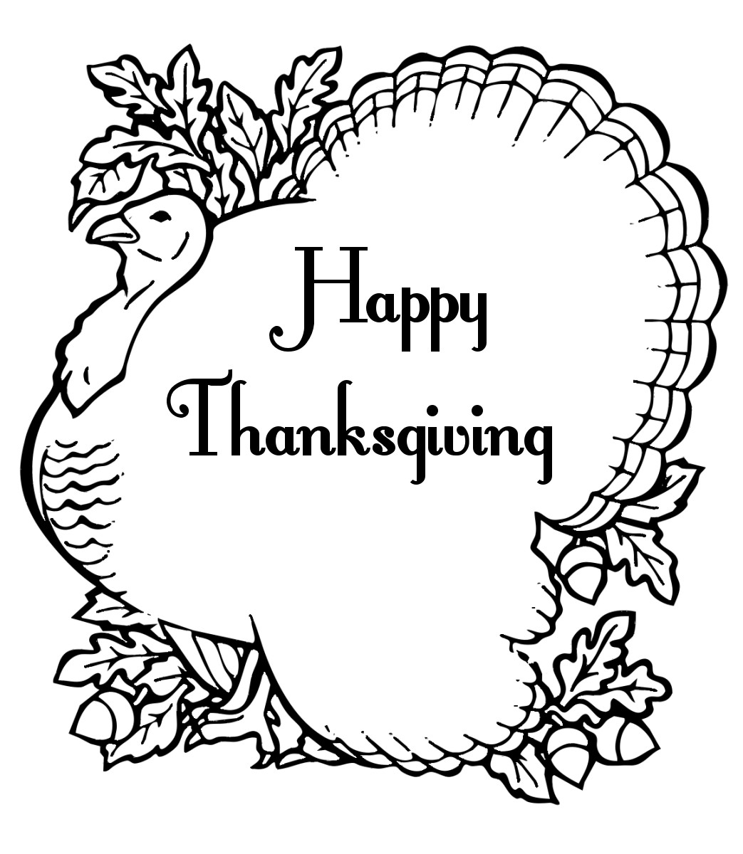 Thanksgiving Turkey Coloring Pages  Free Printable Thanksgiving Coloring Pages For Kids