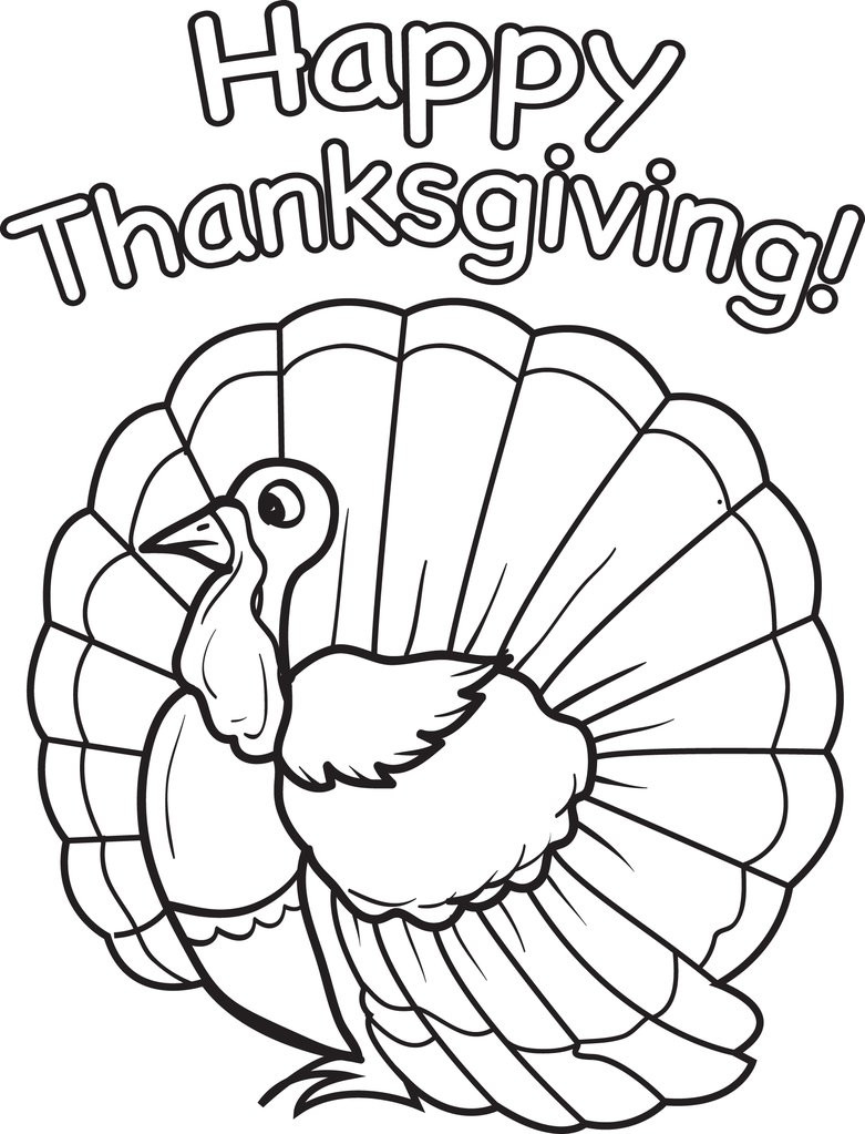 Thanksgiving Turkey Coloring Pages  FREE Printable Thanksgiving Turkey Coloring Page for Kids