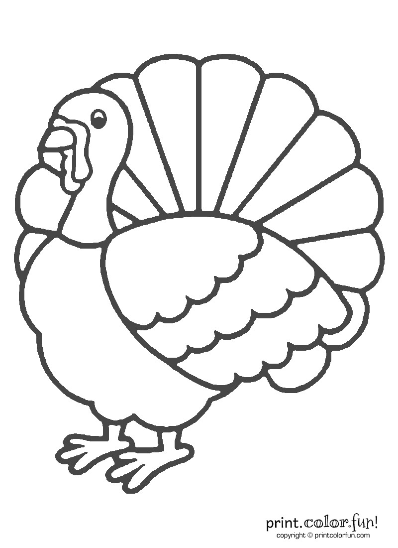 Thanksgiving Turkey Coloring Pages  Thanksgiving turkey coloring coloring page Print Color