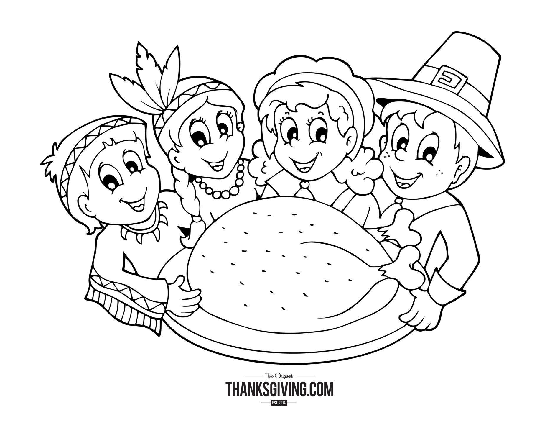 Thanksgiving Turkey Coloring Pages  Thanksgiving Coloring Book Pages for Kids