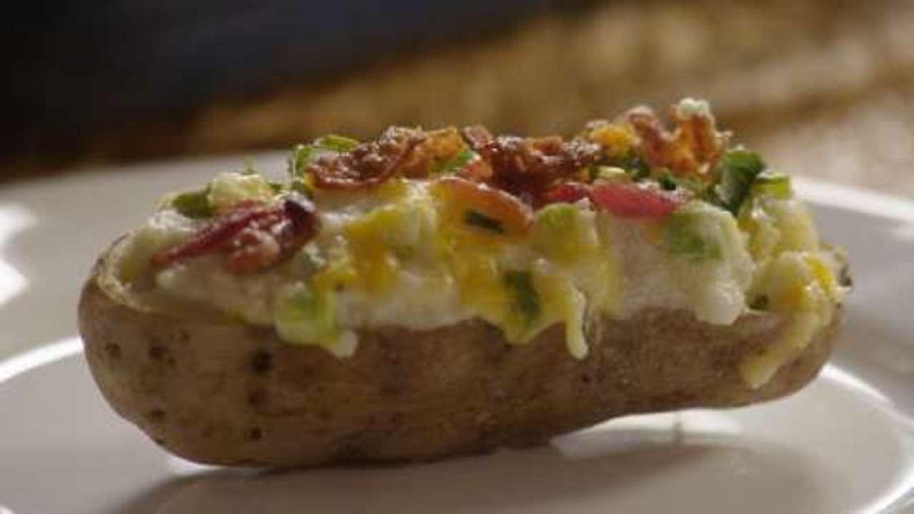 The Baked Potato  Ultimate Twice Baked Potatoes Video Allrecipes
