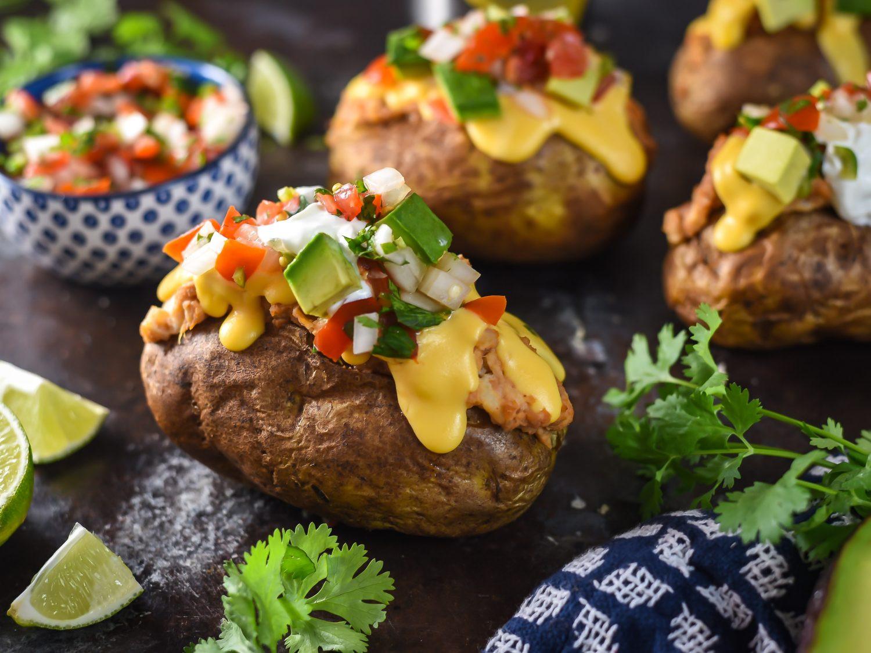 The Baked Potato  Nacho Style Baked Potatoes Recipe