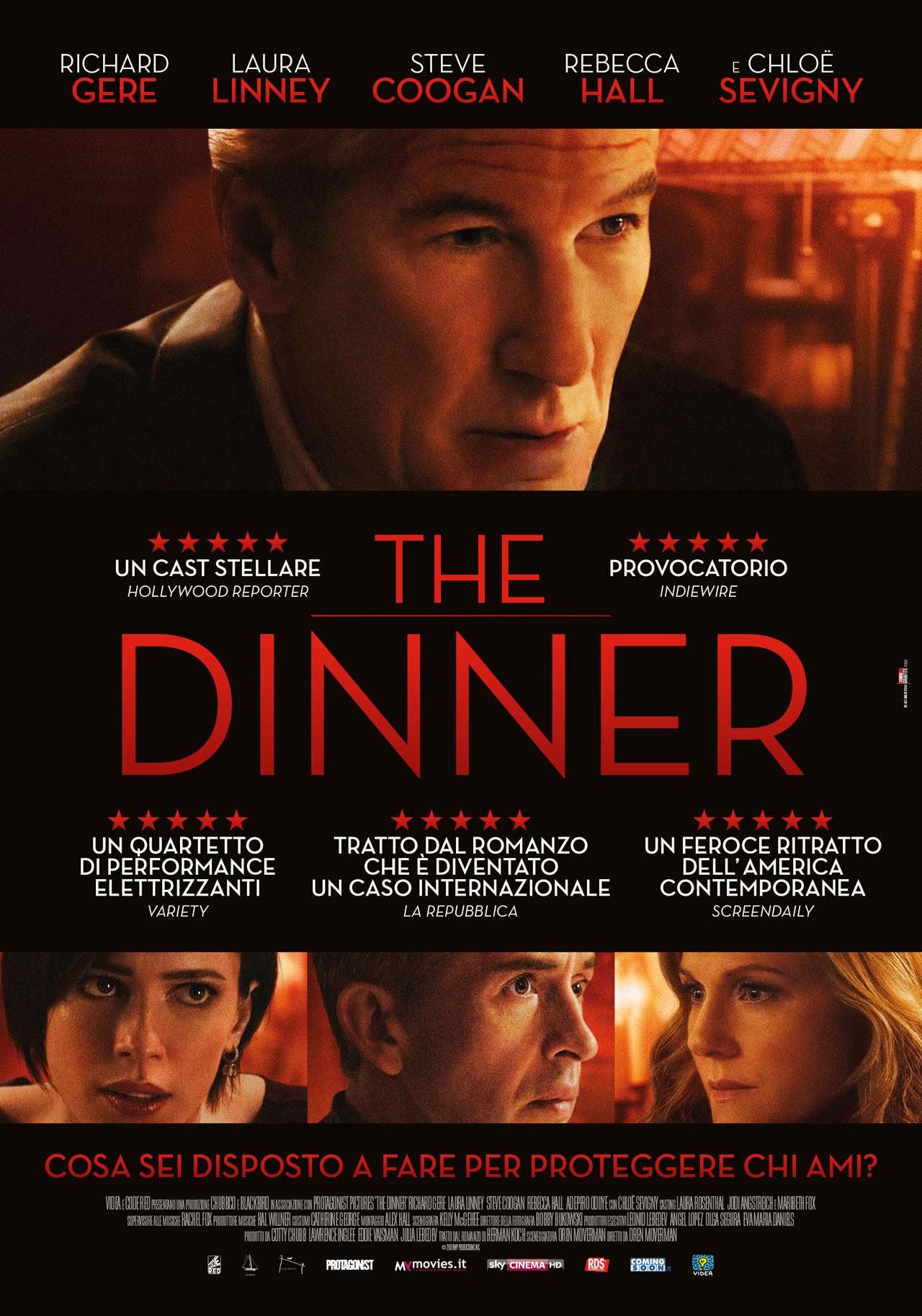 The Dinner Cast  The Dinner il poster italiano del film con Richard Gere