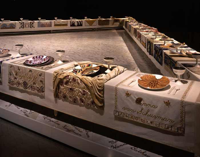 The Dinner Party Judy Chicago  Through the Flower The Dinner Party