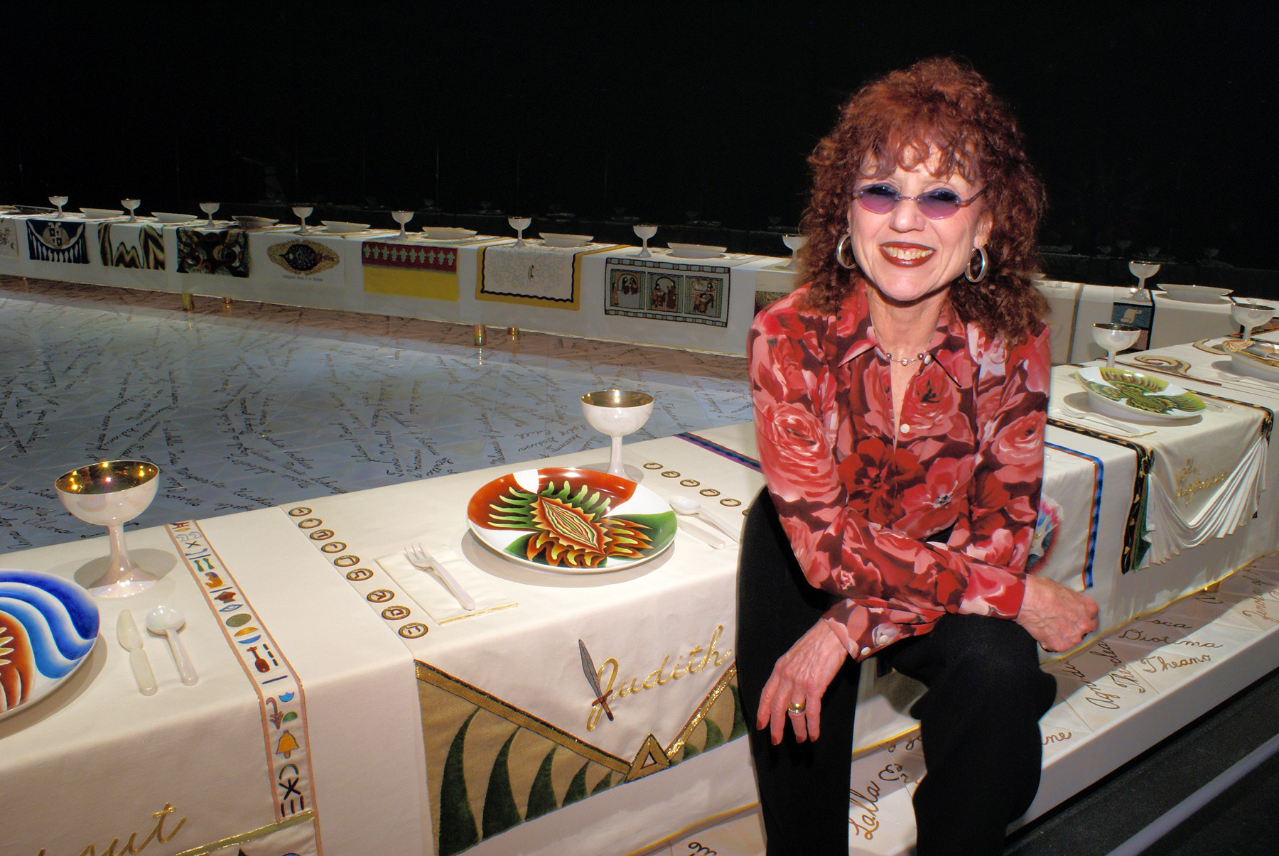 The Dinner Party Judy Chicago  Women and Media FA2013 Judy Chicago Feminist Artist