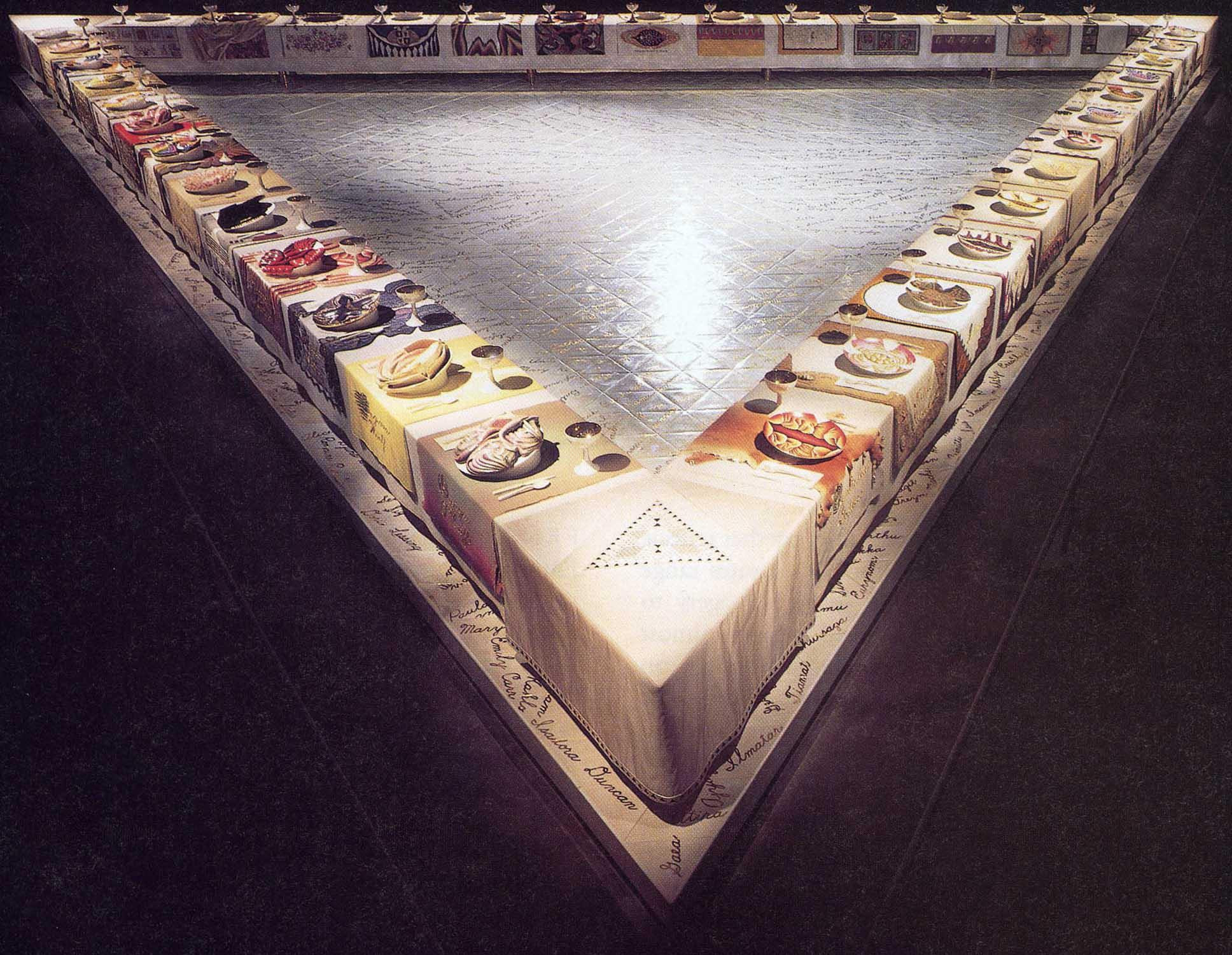 The Dinner Party Judy Chicago  Must Know Works 4 Art History Art 1023 h01 with Harvey