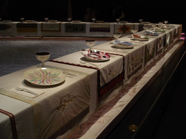 The Dinner Party Judy Chicago  Your last chance to to The Dinner Party Feminist