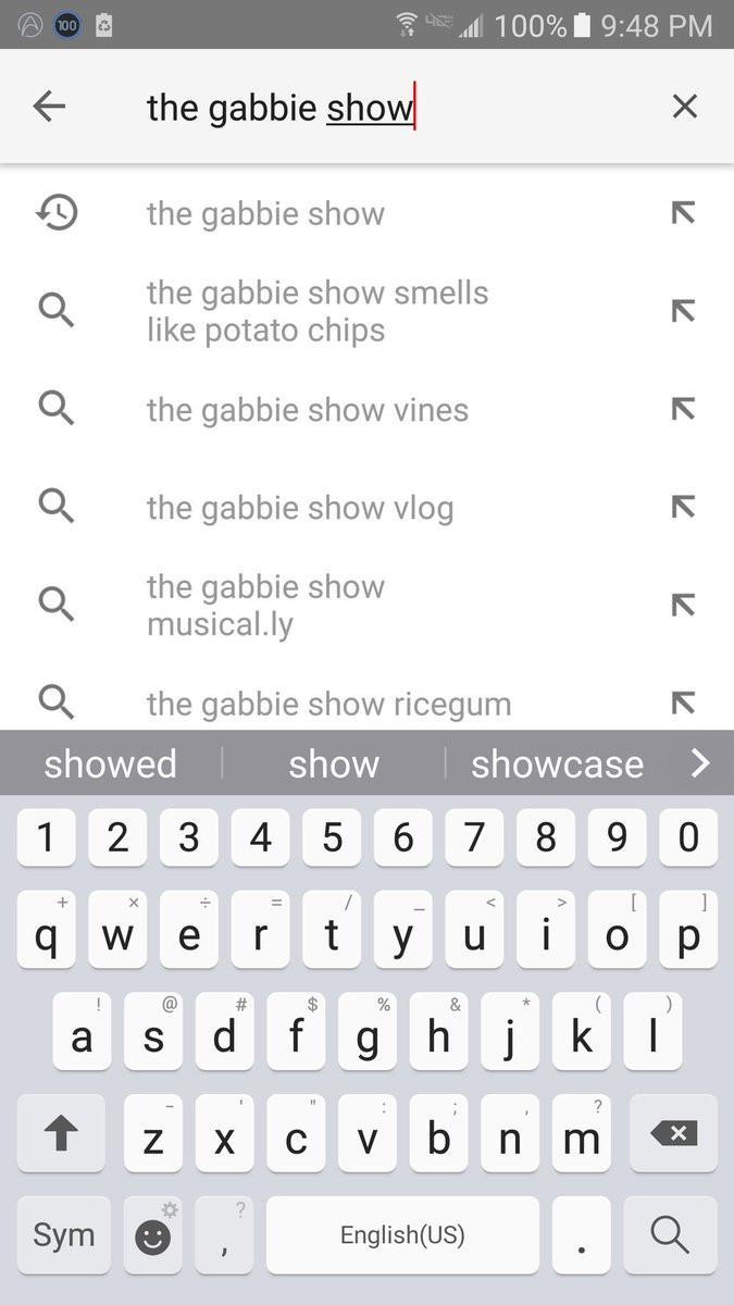 "The Gabbie Show Smells Like Potato Chips  iris on Twitter "" TheGabbieShow we even got ""the Gabbie"