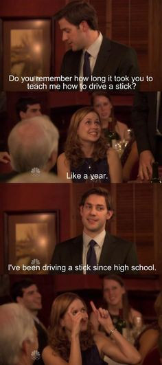 The Office Dinner Party Bloopers  When Jim accidentally reveals Pam s pregnancy at their