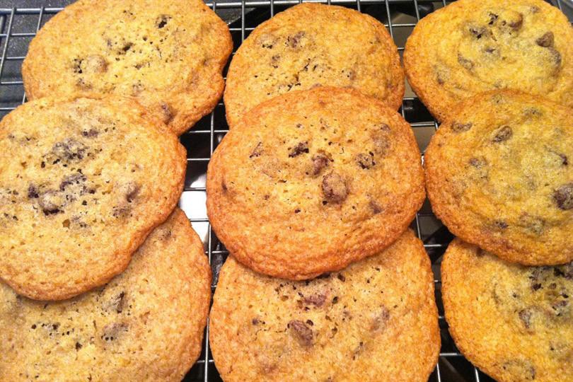 Thin Crispy Chocolate Chip Cookies  Gluten Free Chocolate Chip Cookies