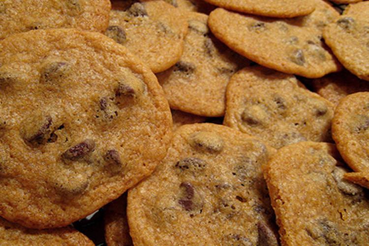Thin Crispy Chocolate Chip Cookies  Super thin crispy chocolate chip cookie recipe Salon
