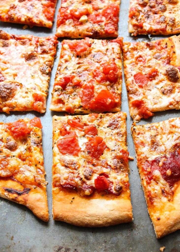 Thin Crust Pizza Dough  Copycat Domino s Thin Crust Pizza Recipe Layers of Happiness