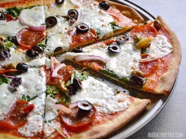 Thin Crust Pizza Dough  Thin and Crispy Pizza Crust Bud Bytes