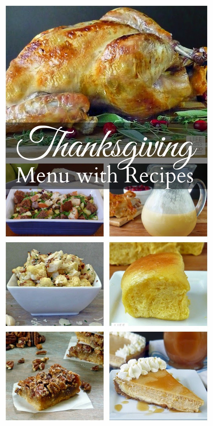 Things To Make For Dinner  Thanksgiving Dinner Menu and Recipes
