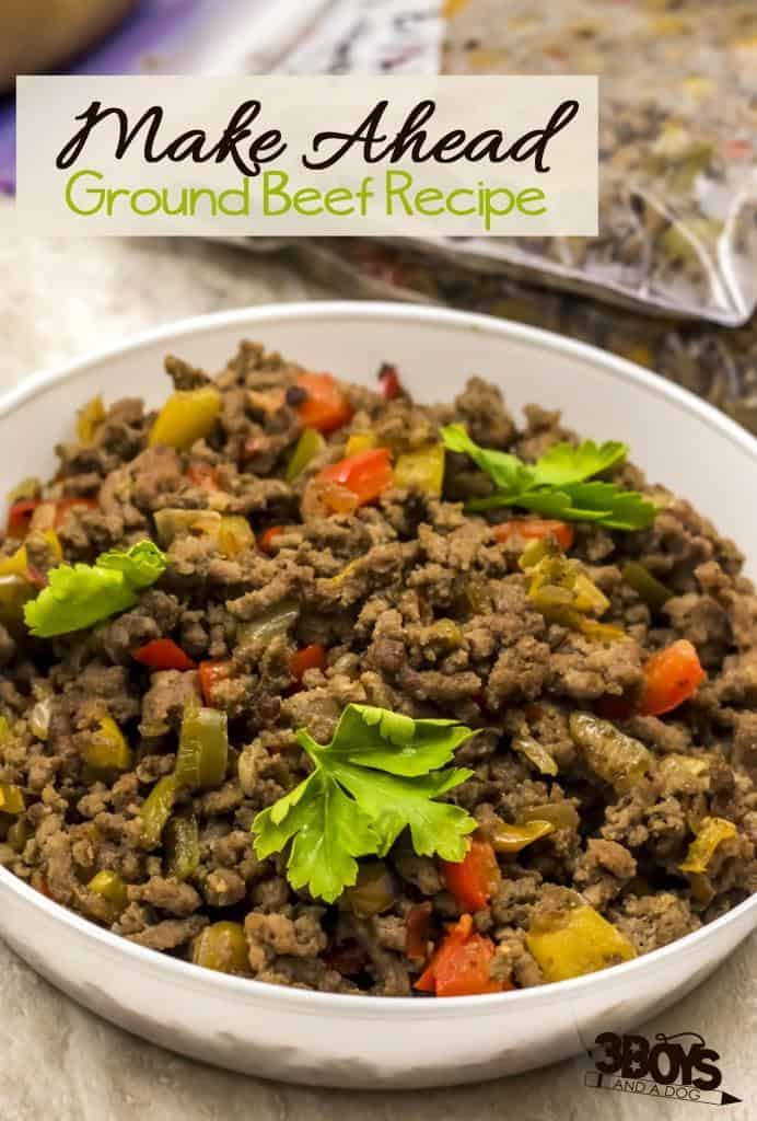 Things To Make With Ground Beef  Make Ahead Ground Beef OAMC Recipe – 3 Boys and a Dog