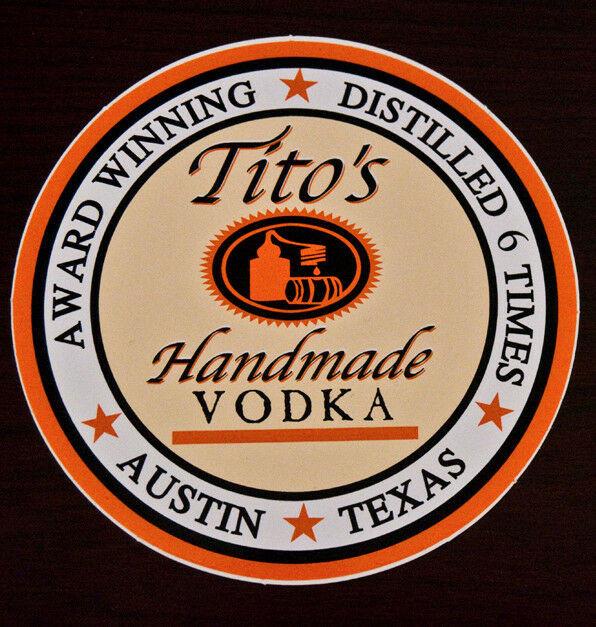 Tito'S Vodka Drinks  Tito s Handmade Vodka Collector s Bumper Sticker NEW