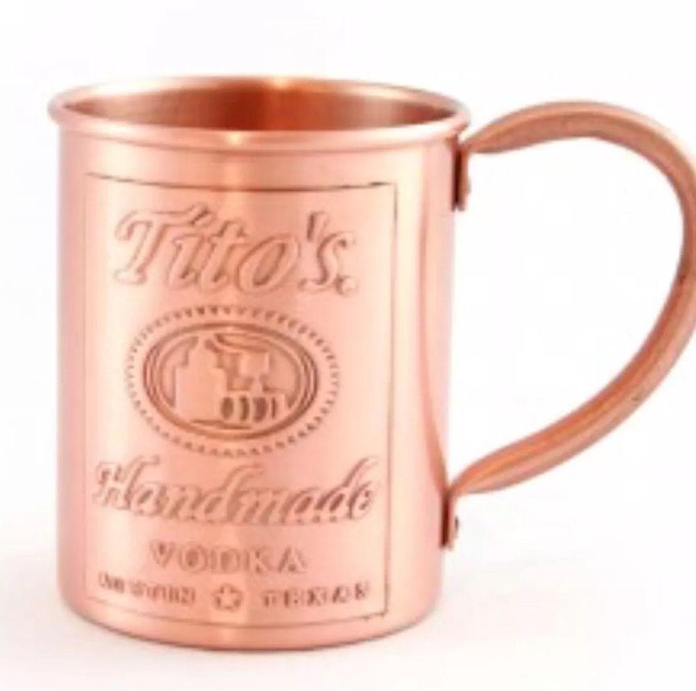 Tito'S Vodka Drinks  Tito s Vodka Custom Copper Moscow Mule Mug Titos