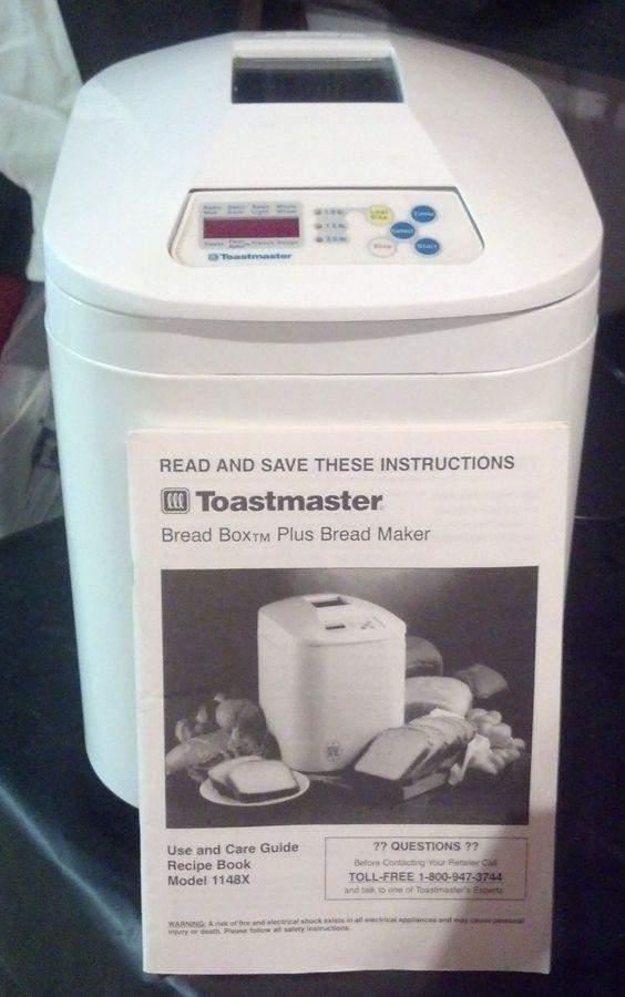 Toastmaster Bread Machine  Pinterest • The world's catalog of ideas