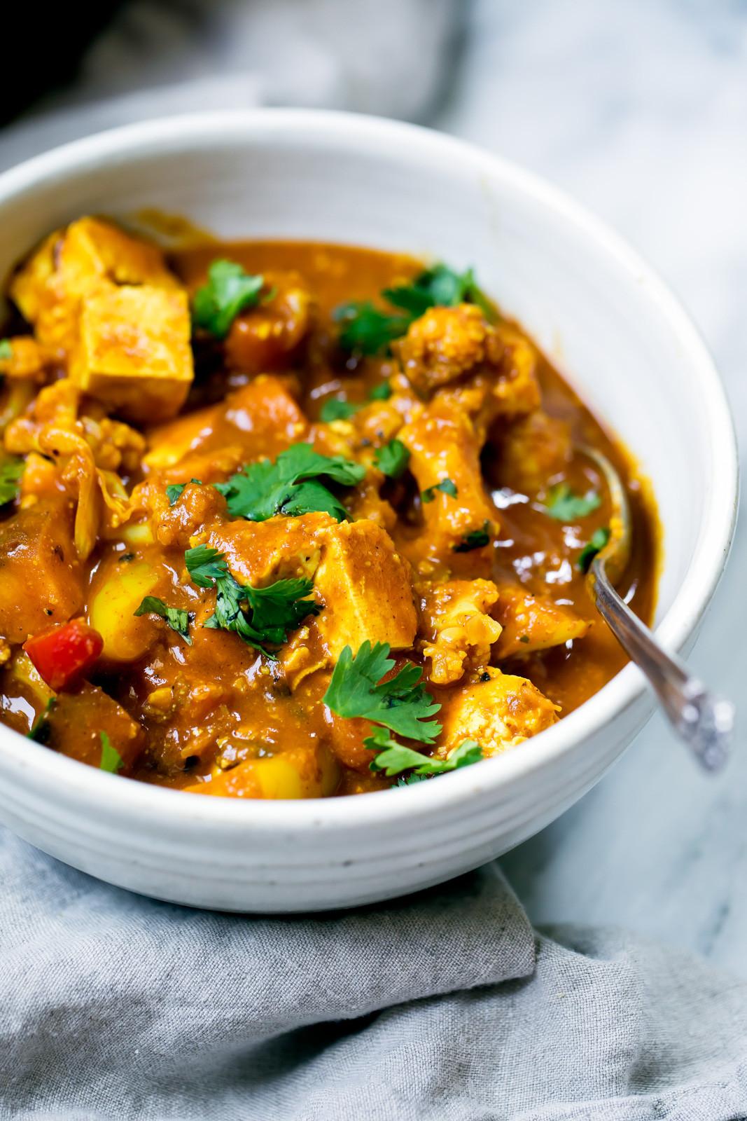 Tofu Curry Recipes  Ve arian Tofu Cashew Coconut Curry