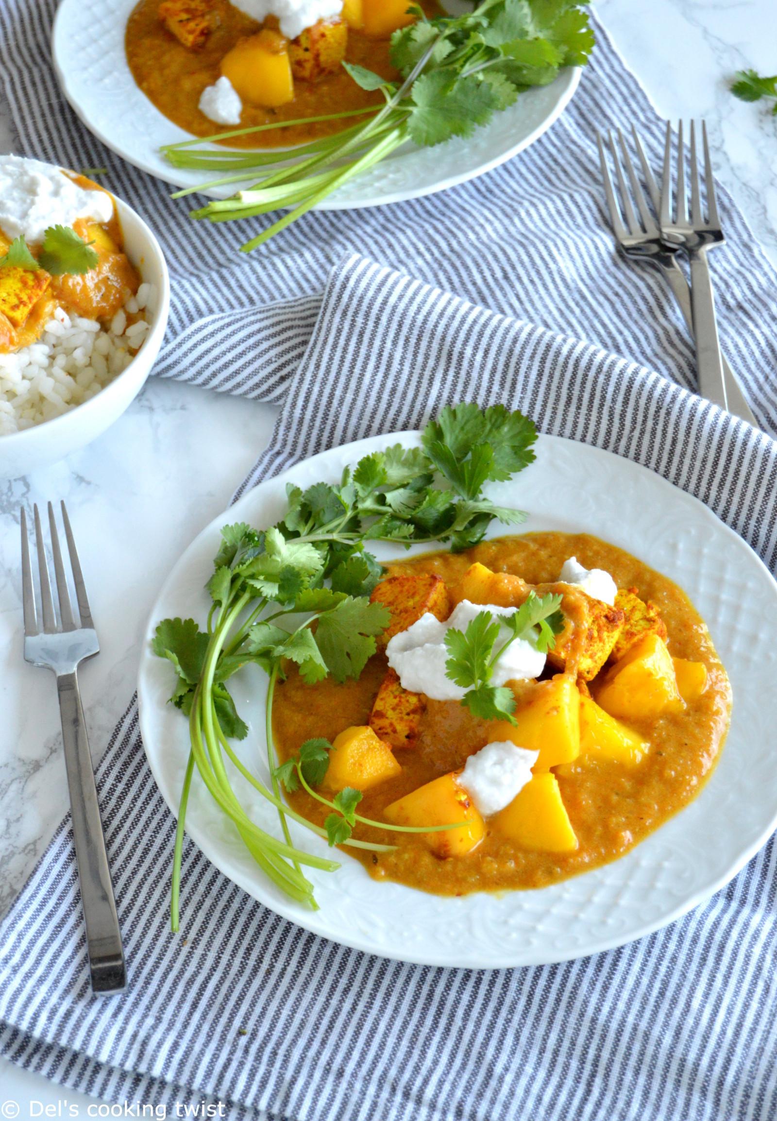 Tofu Curry Recipes  Mango Curry Tofu Vegan Gluten Free — Del s cooking twist
