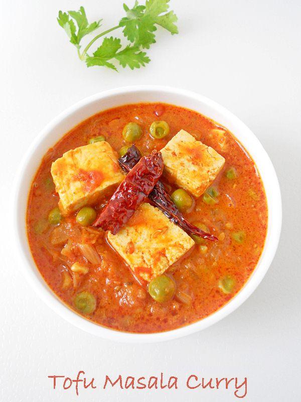 Tofu Curry Recipes  Tofu Matar Masala Curry Recipe