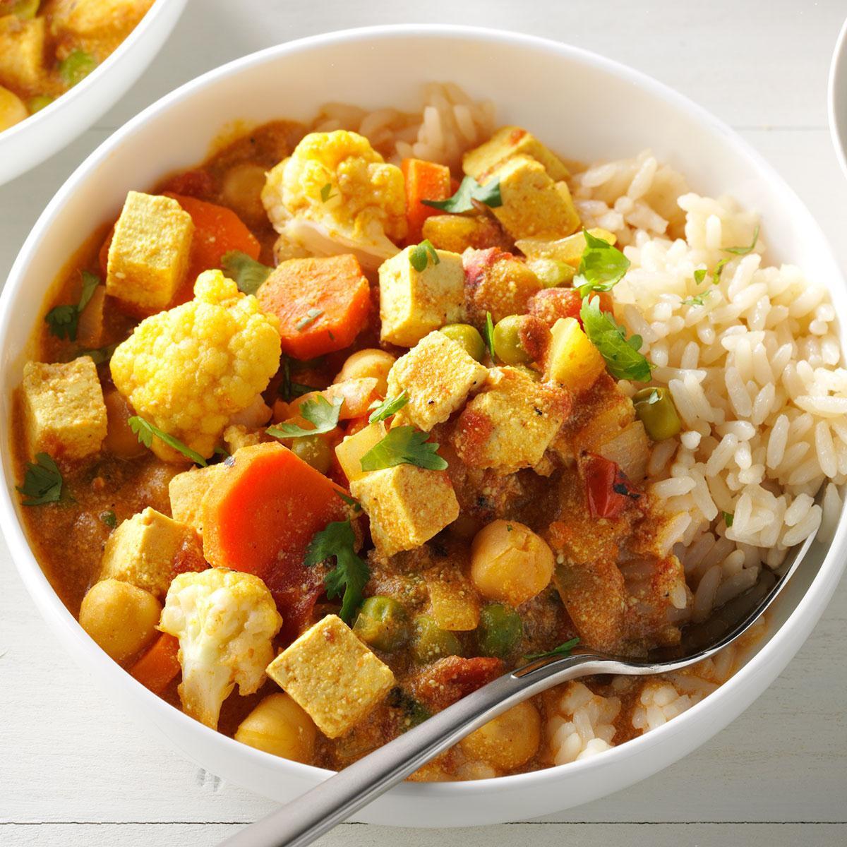 Tofu Curry Recipes  Cauliflower & Tofu Curry Recipe