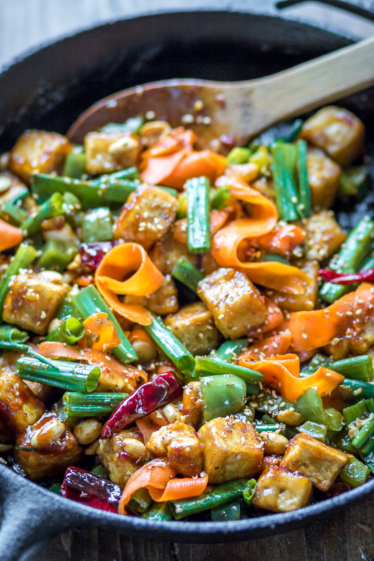 Tofu Stir Fry Recipes  Hoisin Tofu Stir Fry with Peppers and Carrots The