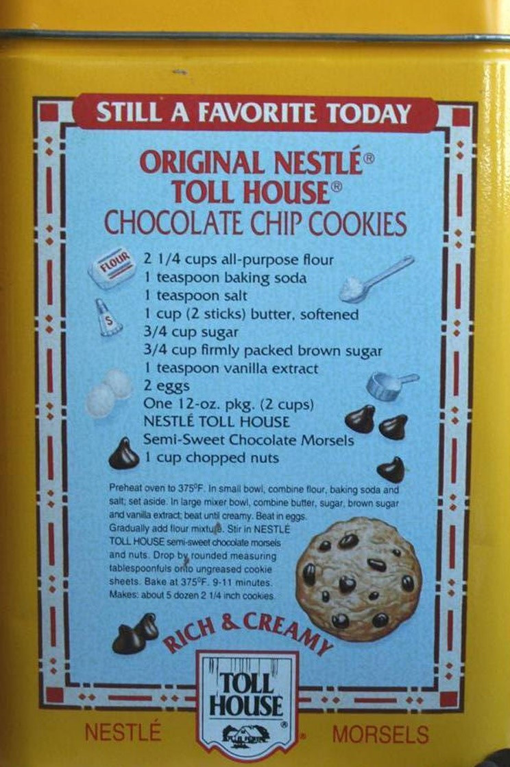 Toll House Cookies Recipe  Chocolate Chip Cookies A Symbol of the Housewife