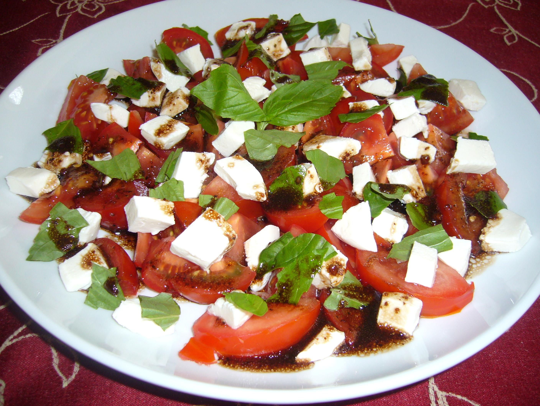 Tomato And Mozzarella Salad  Tomato Mozzarella and Basil Salad