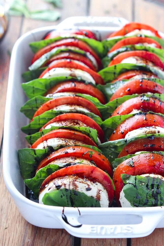 Tomato And Mozzarella Salad  Tomato Mozzarella Salad with Balsamic Reduction