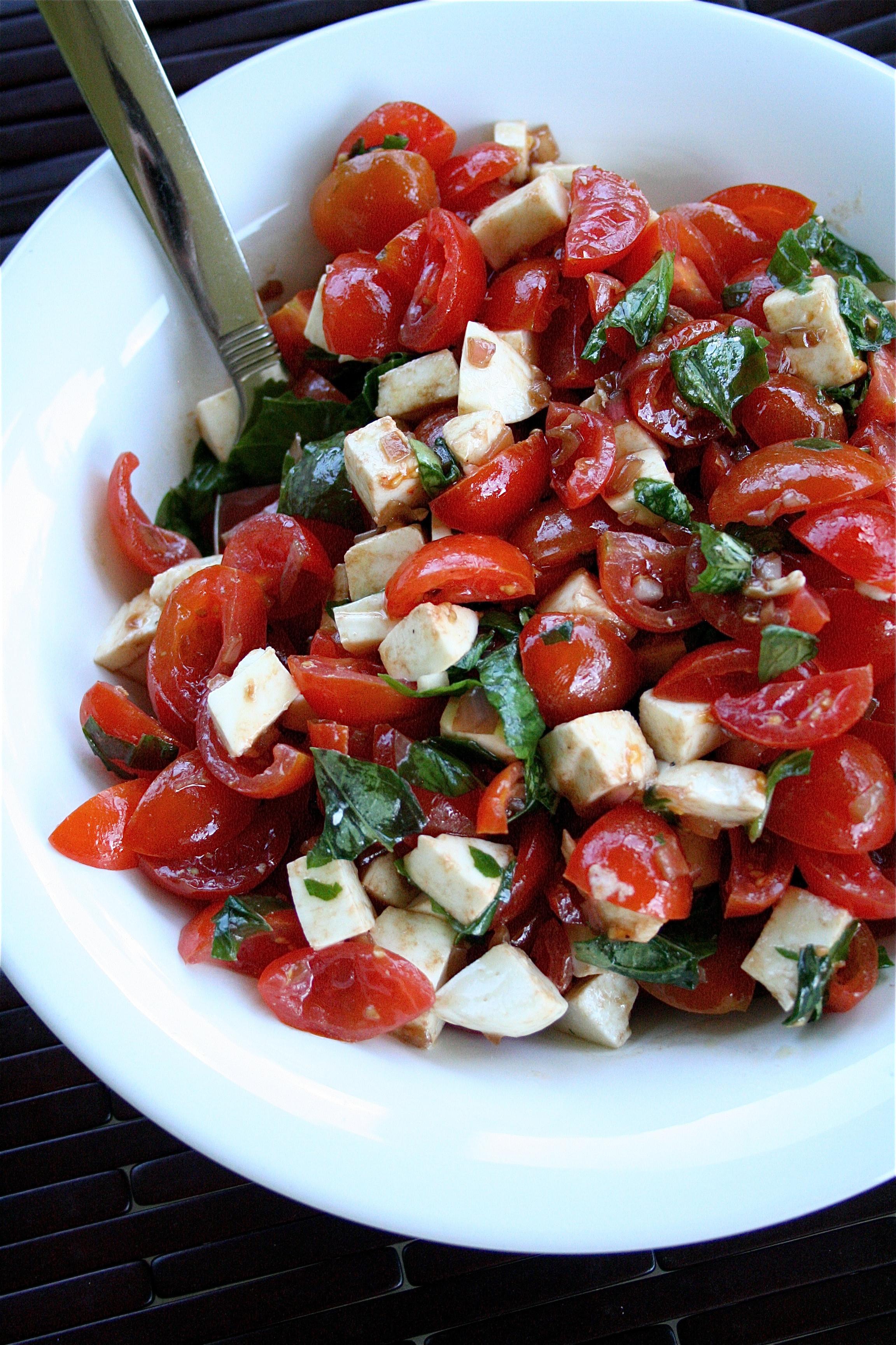 Tomato And Mozzarella Salad  Cherry Tomato Salad With Basil And Mozzarella