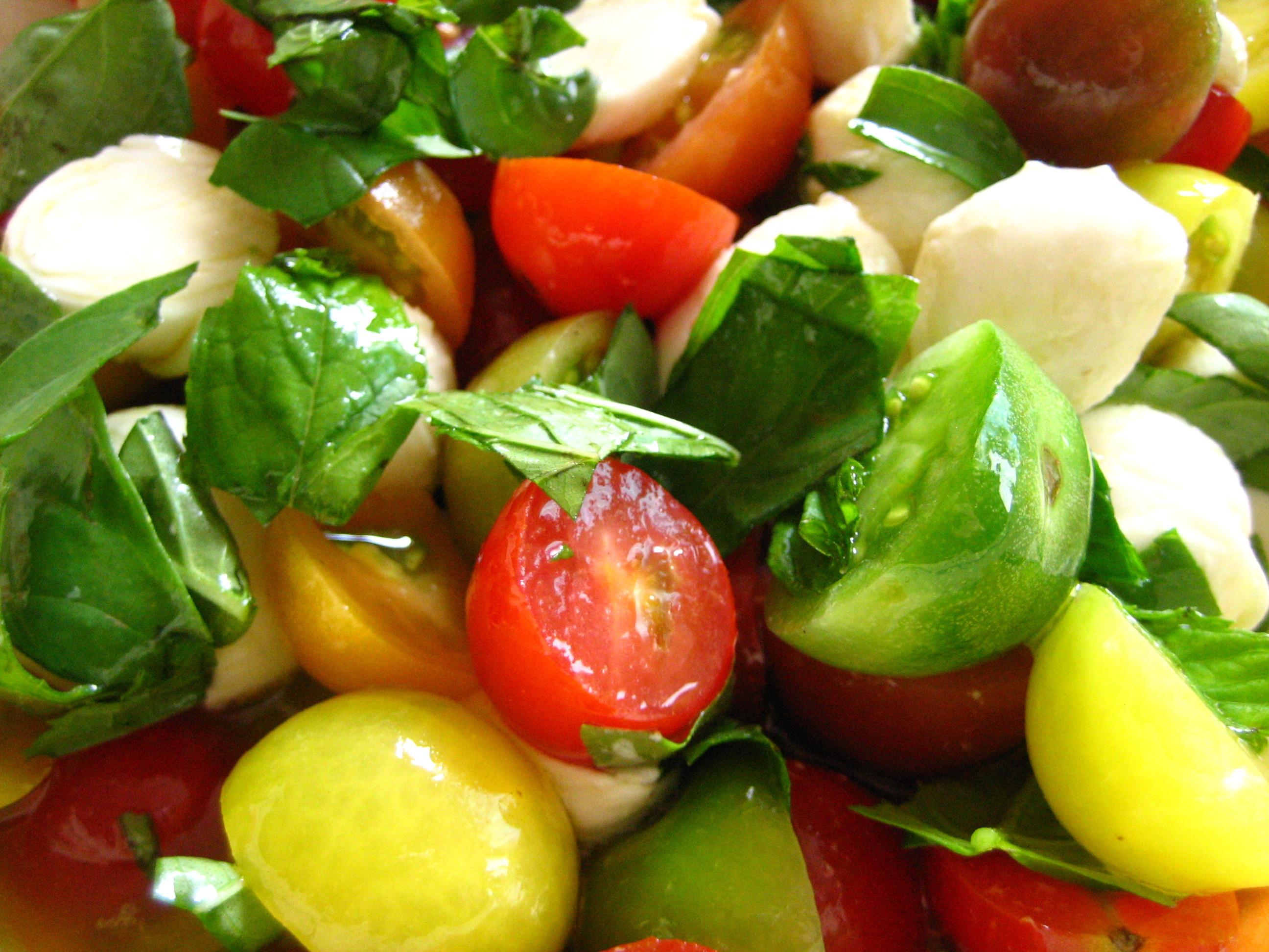 Tomato And Mozzarella Salad  Ciliegine Tomato Basil Caprese Salad