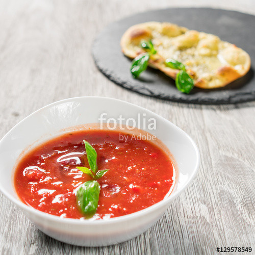 "Tomato Based Soups  ""Spanish cold tomato based soup gazpacho "" Stock photo and"