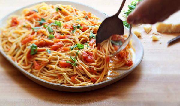 Tomato Basil Pasta Sauce  Spaghetti With Fresh Tomato and Basil Sauce Recipe NYT