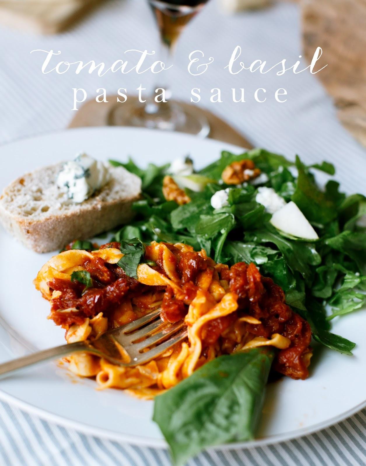 Tomato Basil Pasta Sauce  Tomato Basil Pasta Sauce