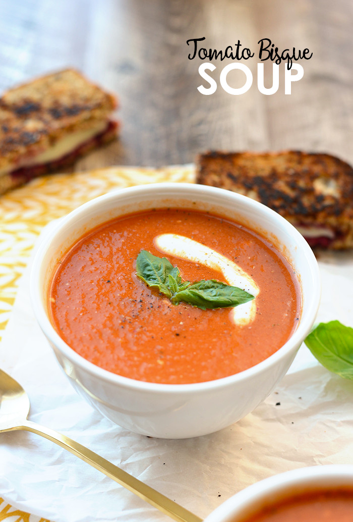 Tomato Bisque Soup  20 Minute Healthy Tomato Bisque Soup Fit Foo Finds